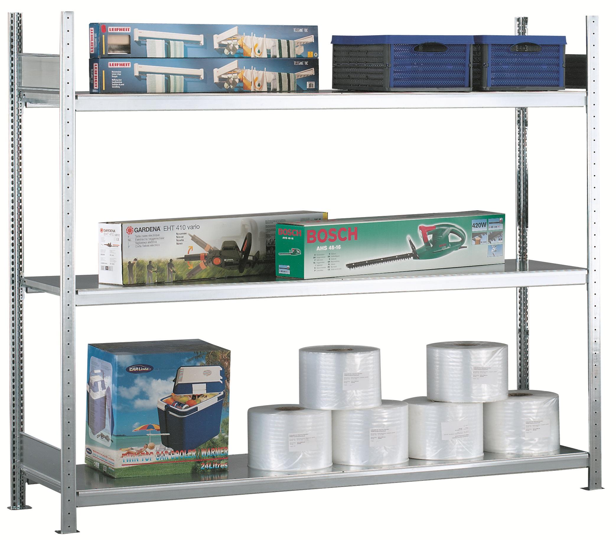 Weitspannregal / Industrieregal - Grundfeld - leichte Belastung bis 400 kg
