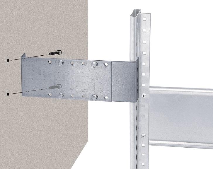 Wandhalter für Einzelregale, variabel 175 - 325 mm