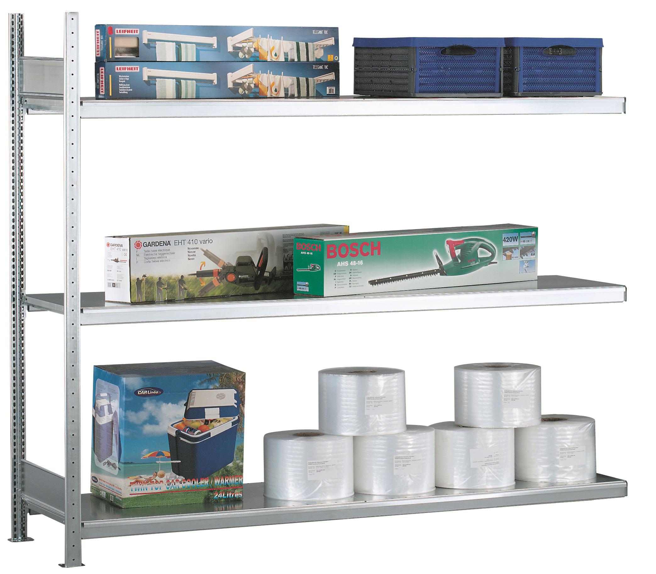 Weitspannregal / Industrieregal - Anbaufeld - leichte Belastung bis 400 kg