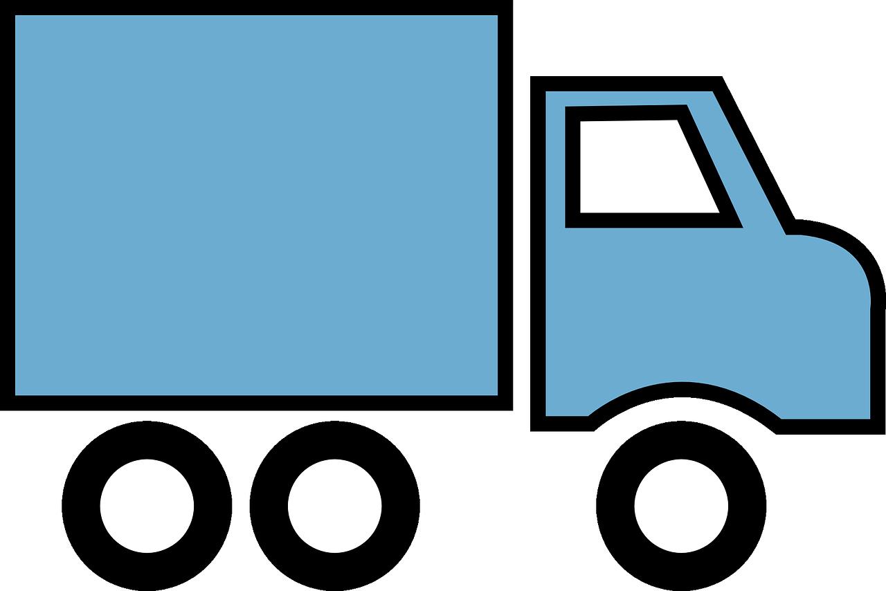 Anlieferung mit Hebebühne und Hubwagen