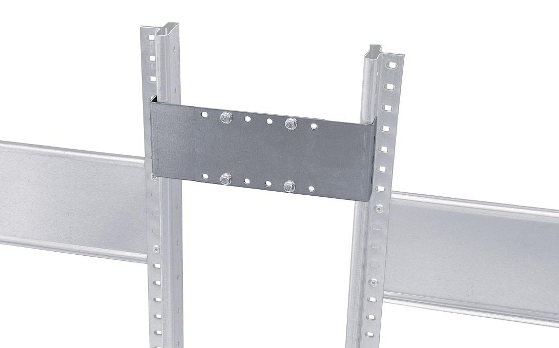 Distanzhalter für Doppelregale, variabel 265 - 465 mm